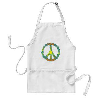 Peace Love Running Adult Apron