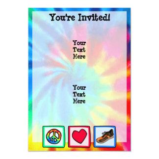 Peace, Love, Running Card