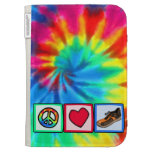 Peace, Love, Running Cases For Kindle