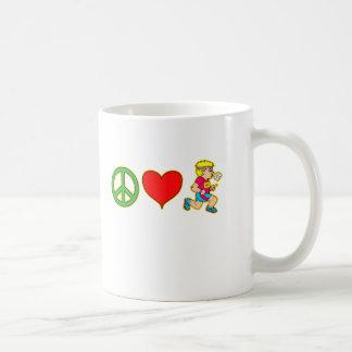 Peace Love Running Cute Runners Products Coffee Mug