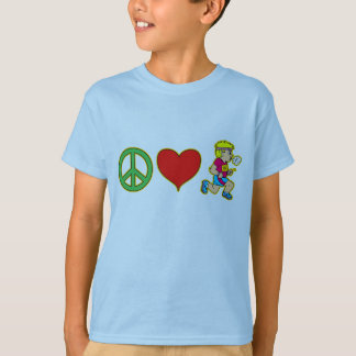 Peace Love Running Cute Runners Products T-Shirt