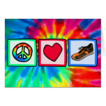 Peace, Love, Running Greeting Card