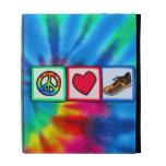 Peace, Love, Running iPad Cases