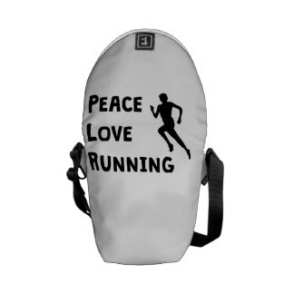Peace Love Running Messenger Bag