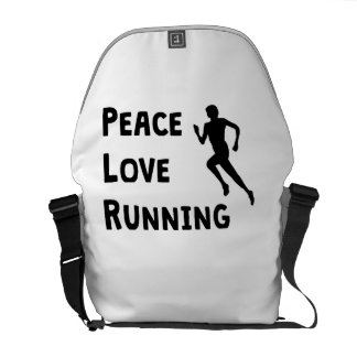 Peace Love Running Courier Bag