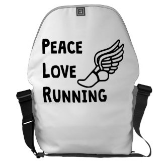Peace Love Running Courier Bags