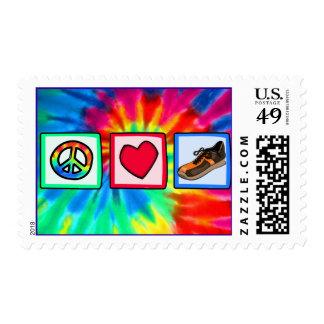Peace, Love, Running Postage
