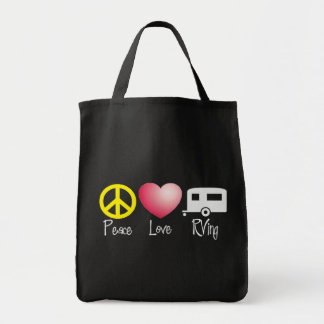 Peace, Love, RVing Grocery Tote Bag