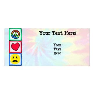 Peace, Love, Sadness Rack Card Template