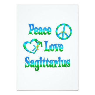 Peace Love Sagittarius Card