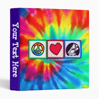 Peace, Love, Sailing Binder