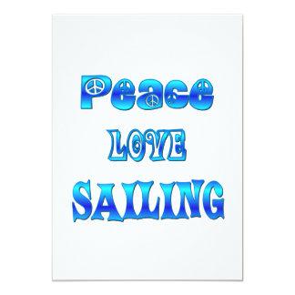 Peace Love Sailing Card