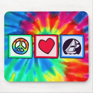 Peace, Love, Sailing Mouse Pad