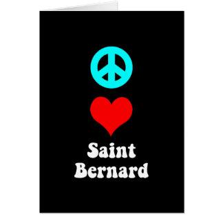Peace love Saint Bernard Card