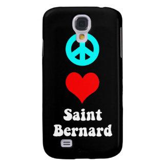 peace love saint bernard galaxy s4 cases