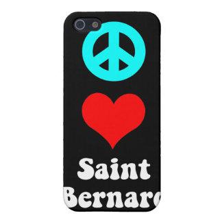 peace love saint bernard iPhone 5 cover