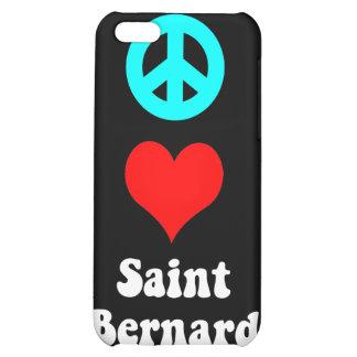 peace love saint bernard iPhone 5C covers