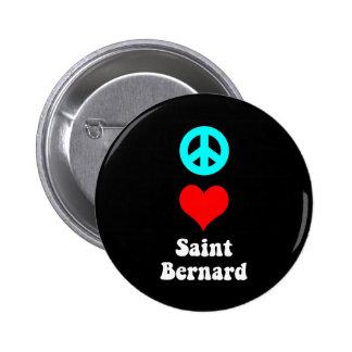 Peace love Saint Bernard Pins
