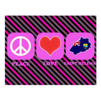 Peace Love Saint Helena Post Cards