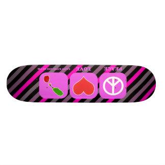 Peace Love Saint Kitts And Nevis Skate Deck