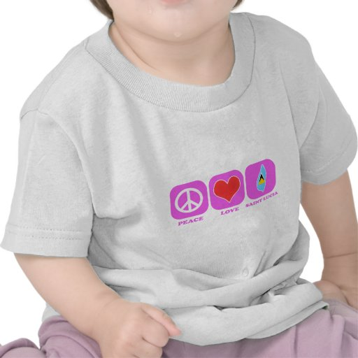 Peace Love Saint Lucia Shirts