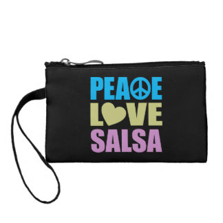 Peace Love Salsa Change Purse