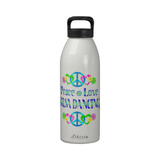 Peace Love Salsa Dancing Drinking Bottles