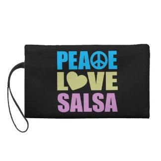Peace Love Salsa Wristlet
