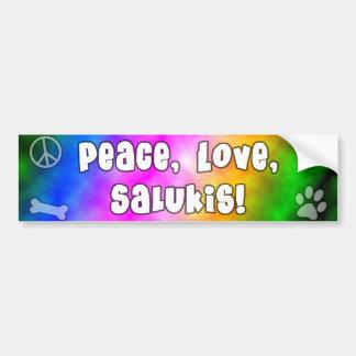 Peace Love Salukis Bumper Sticker