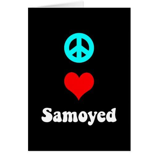 Peace love Samoyed Cards