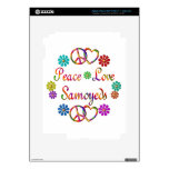 PEACE LOVE SAMOYEDS DECALS FOR iPad 3