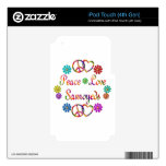 PEACE LOVE SAMOYEDS SKINS FOR iPod TOUCH 4G