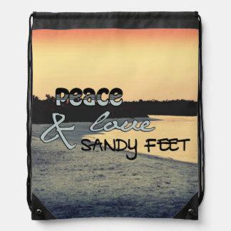 Peace Love & Sandy Feet Bag