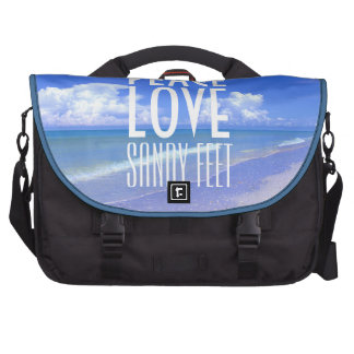 Peace, Love, Sandy Feet Commuter Bag