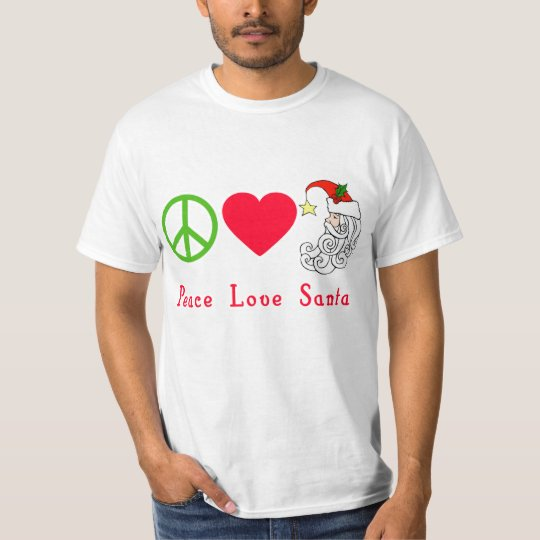 Peace Love Santa Claus Christmas Tshirt