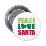 Peace Love Santa Pinback Button