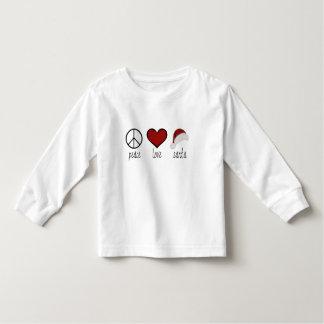 Peace Love Santa T Shirt