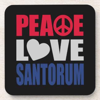 Peace Love Santorum Drink Coaster