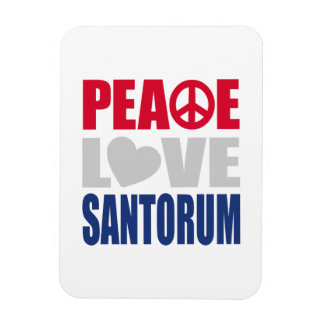 Peace Love Santorum Magnet