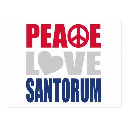 Peace Love Santorum Postcard