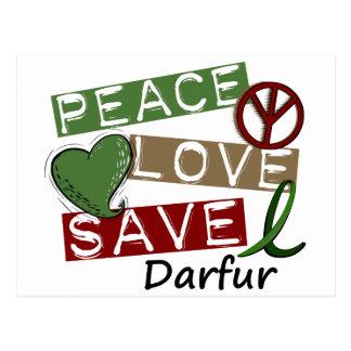 PEACE LOVE SAVE Darfur Postcard
