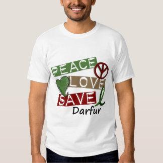 PEACE LOVE SAVE Darfur Shirt