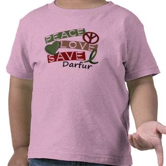 PEACE LOVE SAVE Darfur Tees