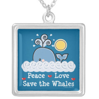 Peace Love Save The Whales Necklace