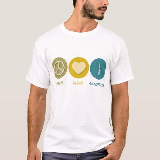 Peace Love Saxophone T-Shirt
