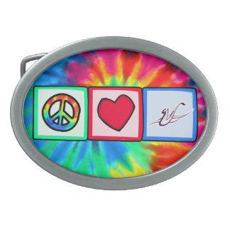 Peace, Love, Saxophones Belt Buckles