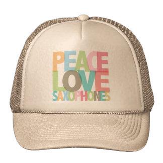 Peace Love Saxophones Tees & Gifts Trucker Hat