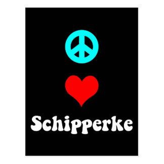 Peace love Schipperke Postcard