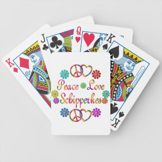 PEACE LOVE SCHIPPERKES BICYCLE PLAYING CARDS