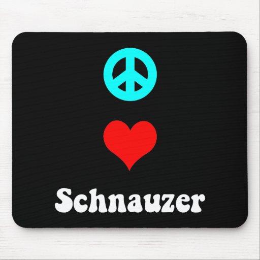 Peace love Schnauzer Mousepads